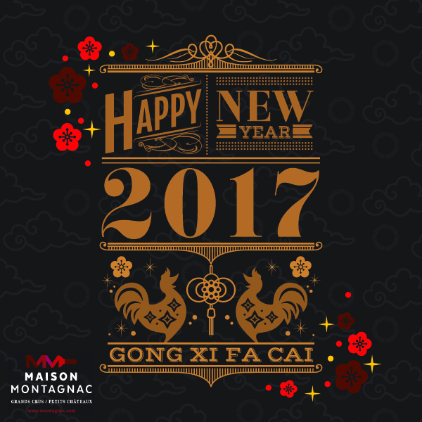 Chinese new year of the Rooster 2017 - Maison Montagnac